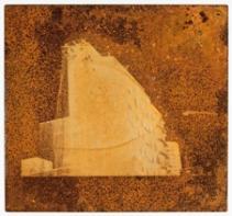"""MARCO BUTI """"Ir até aqui"""" Photo-etching sobre ferro, 40x40cm , 1997, impresso pelo artista"""